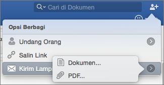 Pilih format untuk dokumen yang akan Anda kirimkan, dokumen Word atau PDF.