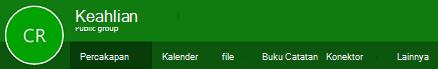 Grup pita di Outlook di web