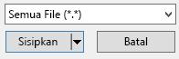 """Filter tipe file dalam kotak dialog sisipkan Video memiliki opsi """"Semua file""""."""