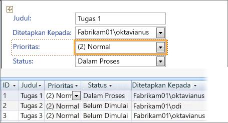Membuat tampilan dengan Microsoft Access