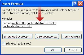 Klik ganda untuk menyisipkan karakter tanda hubung panjang sebagai bagian dari nama formulir
