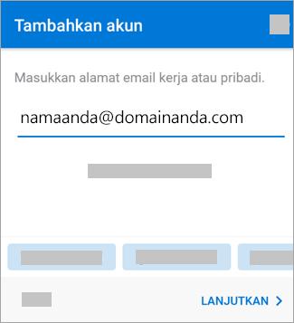 Masukkan alamat email Anda.