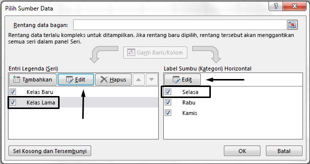 Anda bisa mengedit nama legenda dalam kotak dialog Pilih Sumber Data.