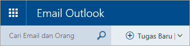 Cuplikan layar sudut kiri atas kotak surat Outlook.com klasik