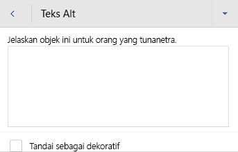 Word untuk kotak dialog teks Alt gambar Android