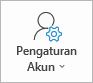 Tombol pengaturan akun Outlook