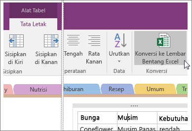 how to connect onenote 2016 to an excel file
