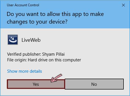 Perbolehkan add-in untuk membuat perubahan ke perangkat Anda