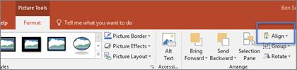 Gambar tab Format Alat Menggambar