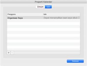 Jendela Properti Kalender jika Anda memiliki sinkronisasi REST.