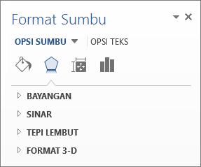 Daftar Opsi Format Sumbu sebagai contoh pengeditan elemen bagan