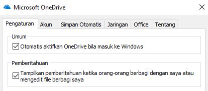 Untuk menonaktifkan semua pemberitahuan untuk file OneDrive bersama, masuk ke pengaturan aplikasi OneDrive dan Nonaktifkan.