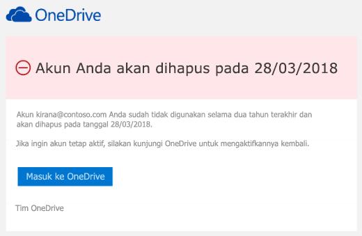 Cuplikan layar email