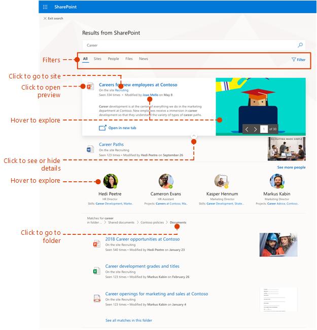 Cuplikan layar halaman hasil pencarian