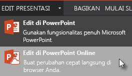 Buka di PowerPoint Online