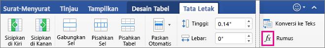 Ketika jendela menjadi lebar, Rumus akan muncul pada tab Tata Letak itu sendiri, dan bukan pada menu Data.