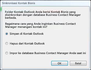kotak dialog sinkronisasi kontak bisnis