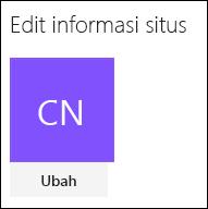 Cuplikan layar memperlihatkan dialog SharePoint untuk mengubah logo situs.
