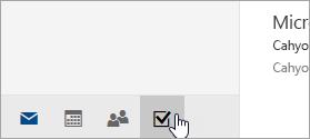 Cuplikan layar tombol tugas.