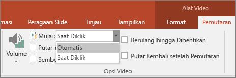 Memperlihatkan Opsi Video PowerPoint