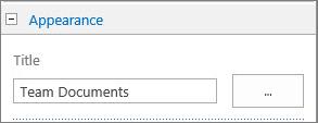 Ubah judul pustaka Dokumen default untuk Dokumen Tim