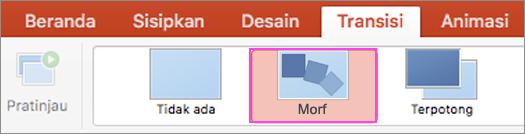Transisi PowerPoint yang fleksibel dengan Morf.