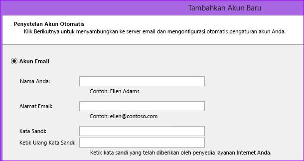 Menambahkan nama dan alamat email Outlook 2010