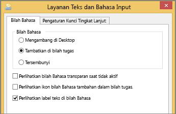 Layanan Teks & Bahasa Input Office 2016 Windows 8