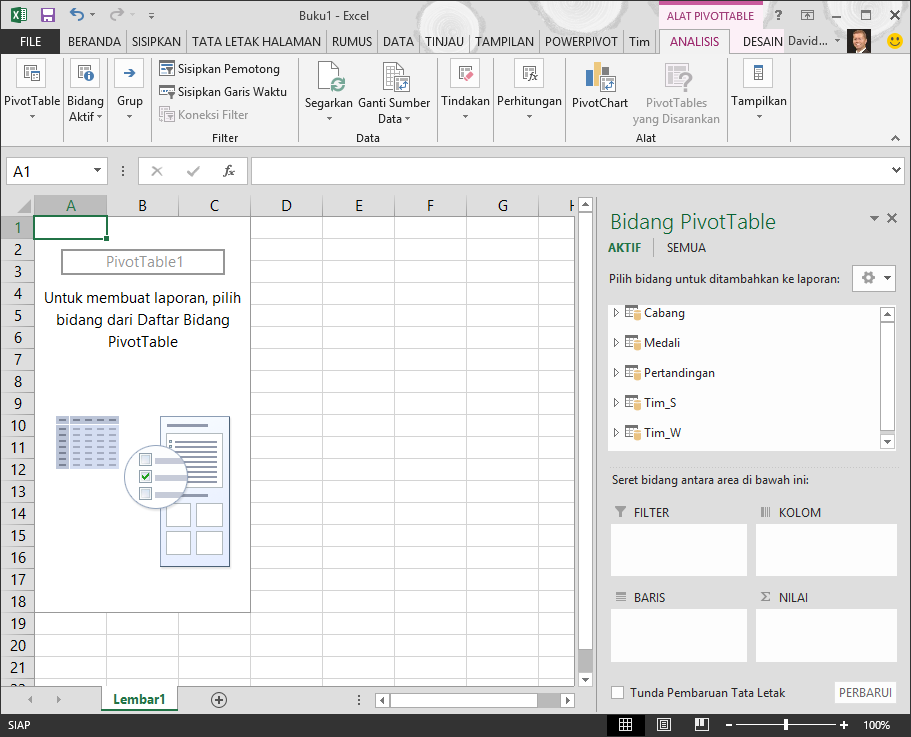 Pivot Table Kosong