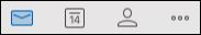 Tab email di Outlook untuk Mac.
