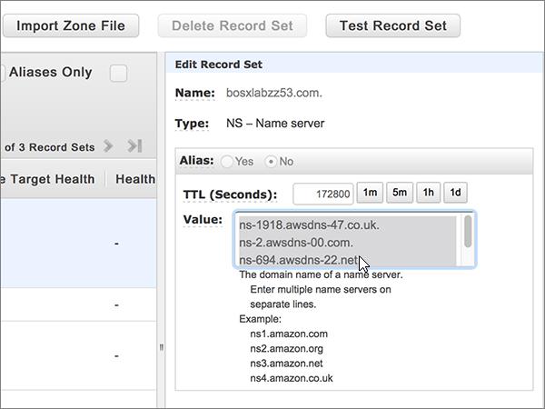 Pilih dan menghapus semua server nama di kotak nilai