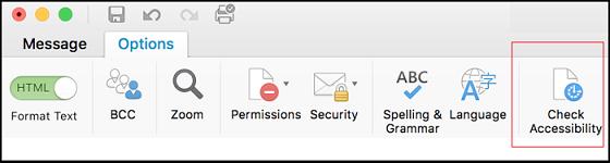 Cuplikan layar UI untuk membuka Pemeriksa Aksesibilitas