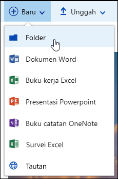 Folder pustaka dokumen baru