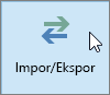 Cuplikan layar tombol Impor/Ekspor di Outlook 2016