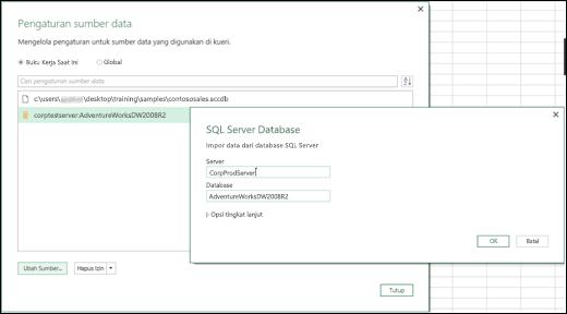 Penyempurnaan Pengaturan Sumber Data Excel Power BI
