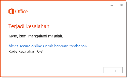Kode Kesalahan 0-3
