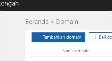 Klik tambahkan domain