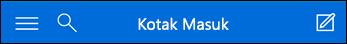 Navigasi atas untuk Outlook Web App mini