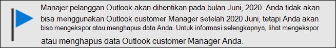 Dukungan akhir Outlook customer Manager pada bulan Juni, 2020