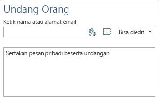 Kotak untuk mencatat daftar alamat email orang