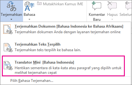 Penerjemah Mini