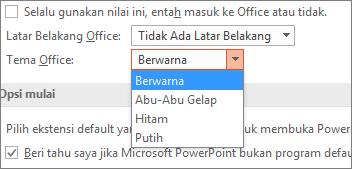 Menampilkan Tema Office pada PowerPoint 2016