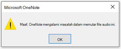 Maaf, OneNote mengalami masalah dalam memutar file audio ini.