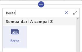 Komponen web berita di kotak alat komponen web