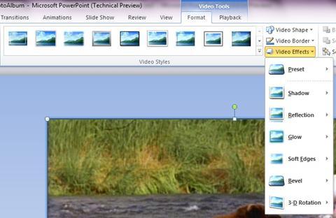 Terapkan efek khusus ke video