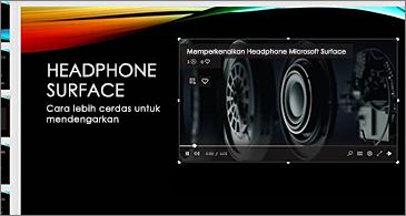 Slide berisi video online