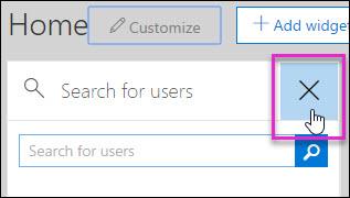 Cuplikan layar menghapus widget dari pusat kepatuhan & keamanan
