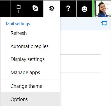 Opsi Pengaturan Outlook di web
