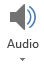 Tombol Audio pada tab perekaman di PowerPoint