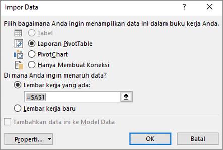 Mengimpor data